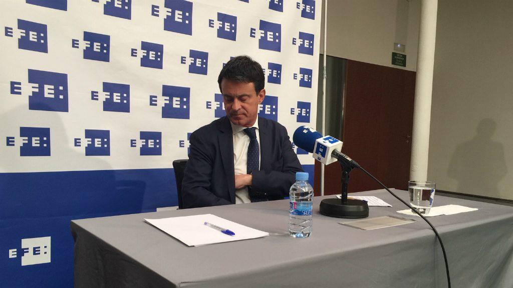 Manuel Valls a EFE