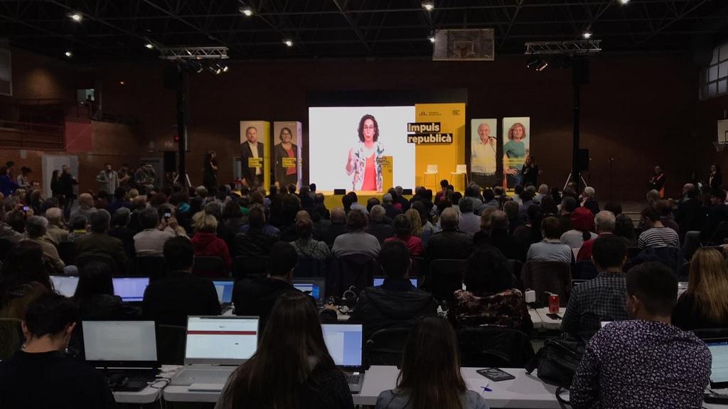 Marta Rovira en l'acte final de campanya d'ERC