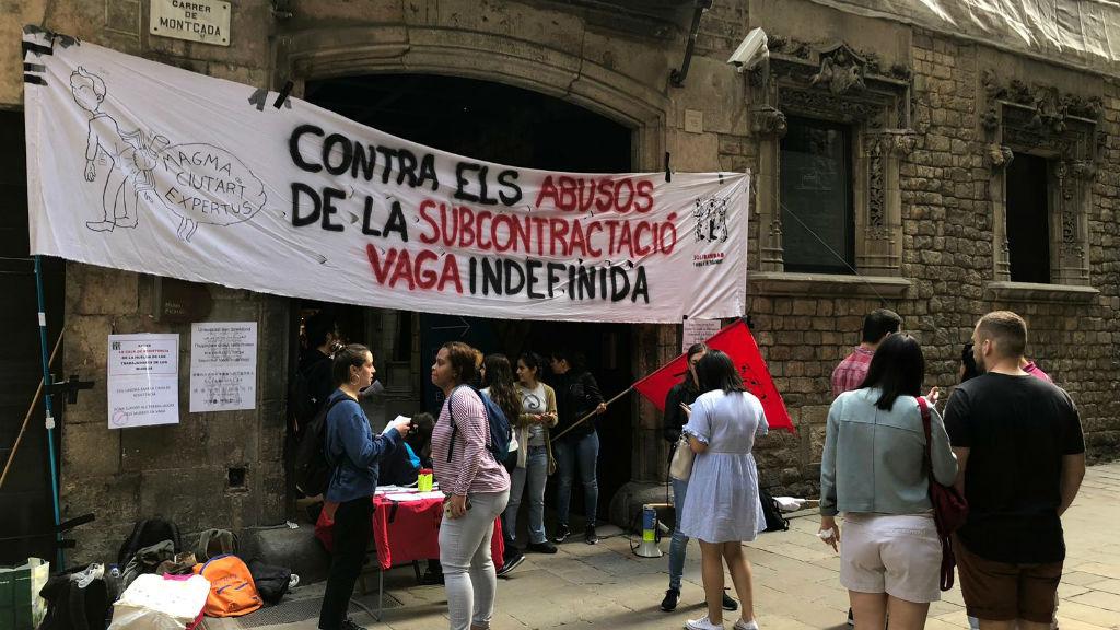 Museu Picasso protesta vaga