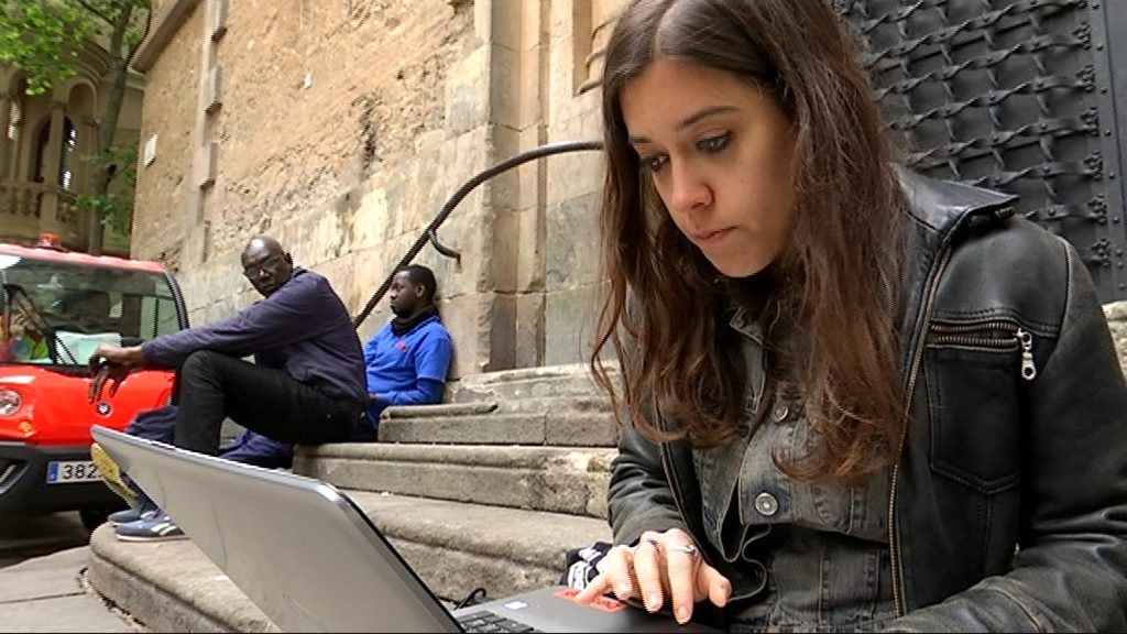 Anna Saliente (CUP) fa la porra de betevé