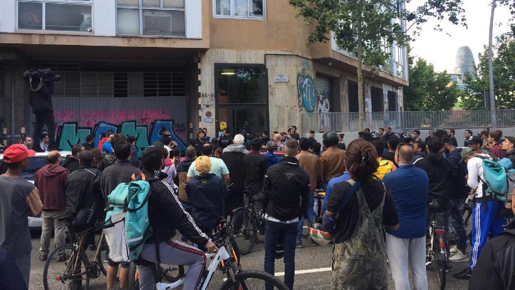 Mossos protesta Glovo