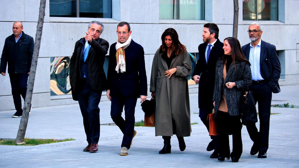 L'expresident del Barça Sandro Rosell arriba a l'Audiència Nacional l'endemà de quedar en llibertat