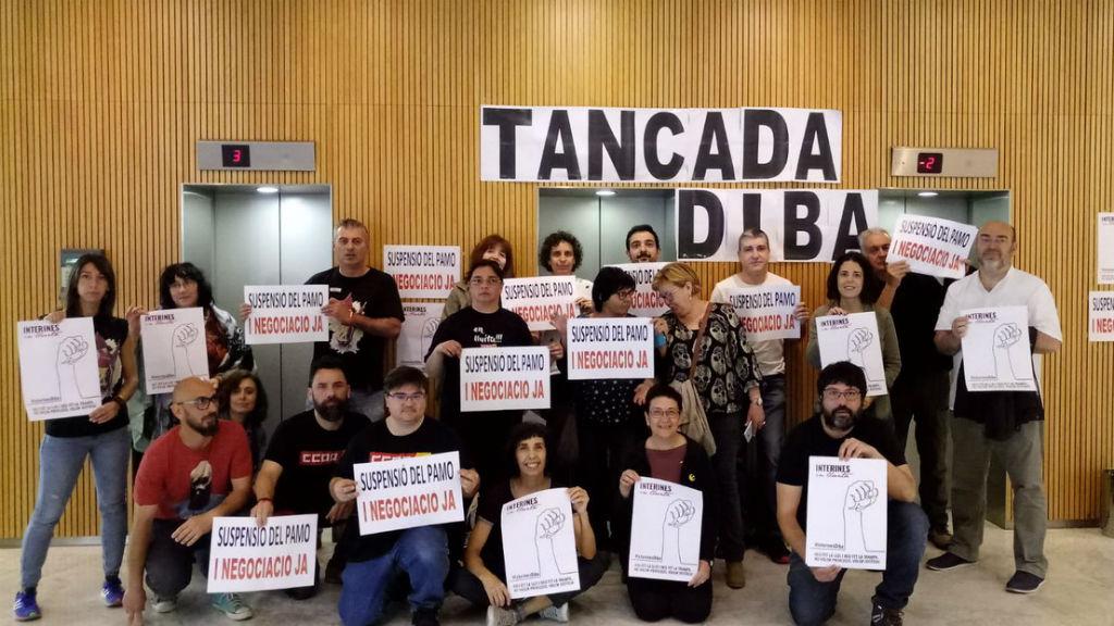 tancada diputació sindicats