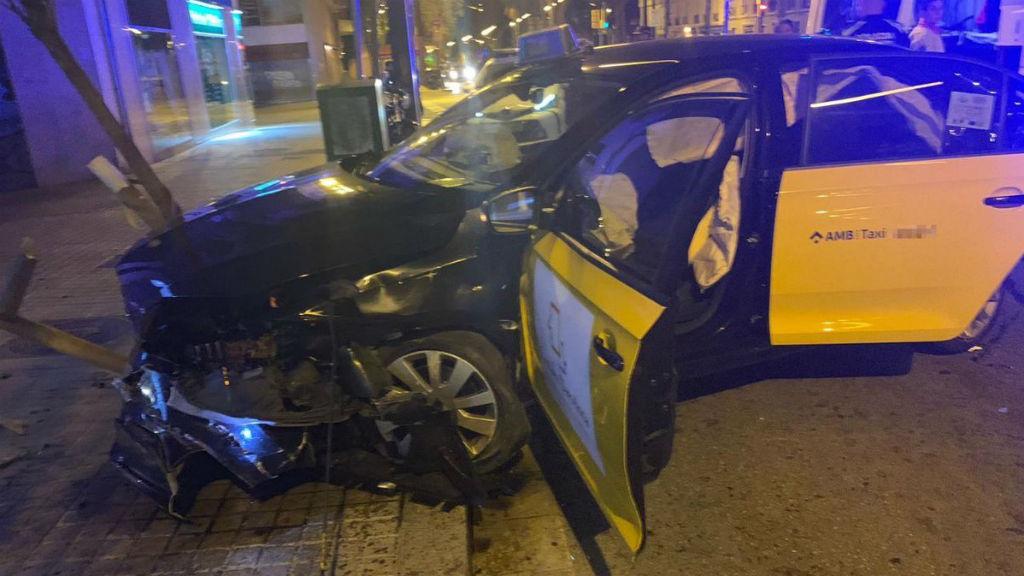 Guàrdia Urbana atracament taxi
