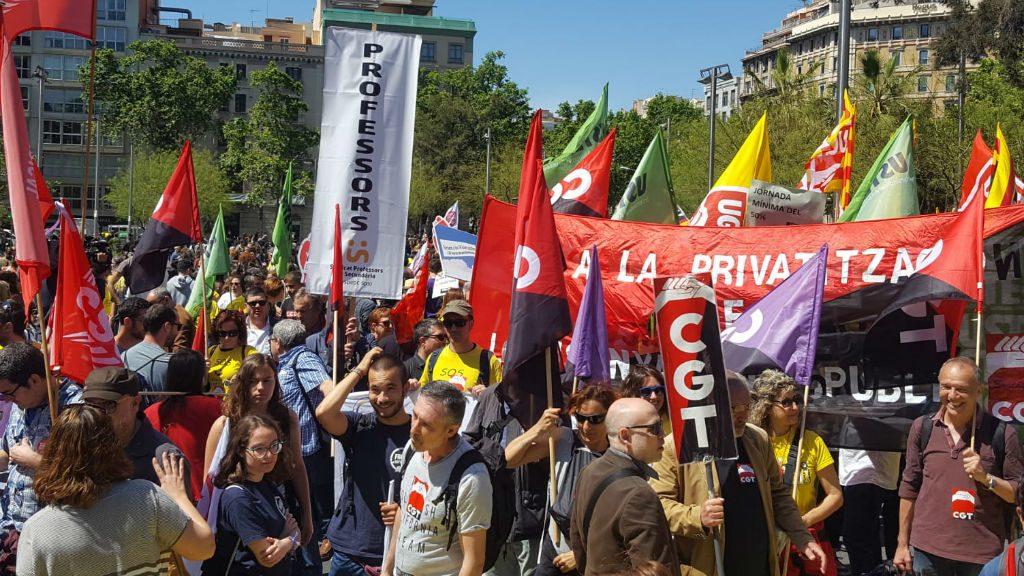 Manifestació ensenyament Barcelona
