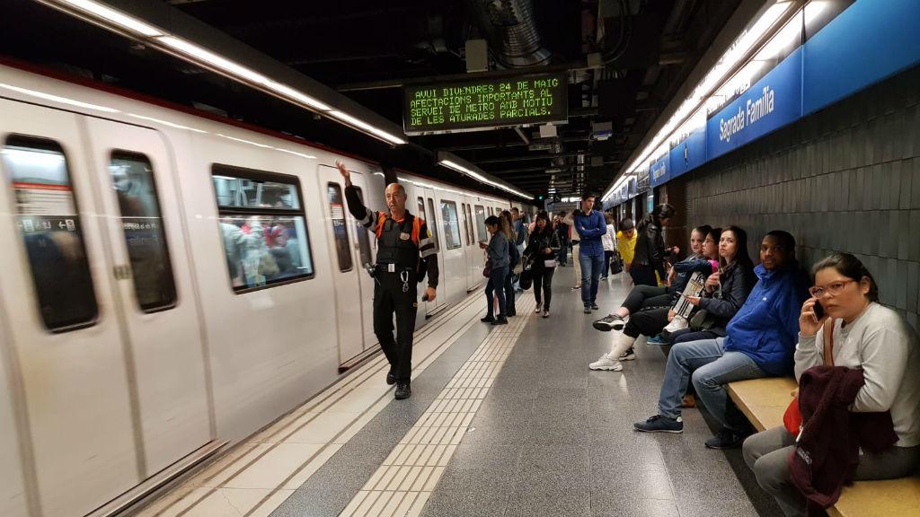 vaga metro estació Sagrada Família