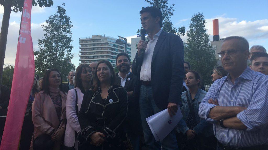 Valls a la plaça de les Glòries