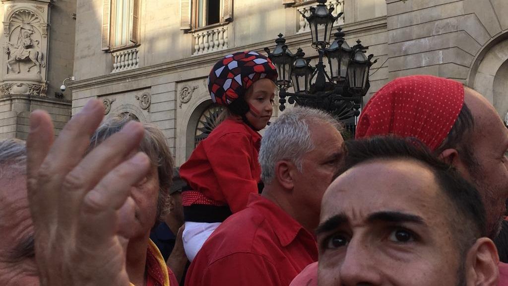 Una anxaneta a la plaça de Sant Jaume