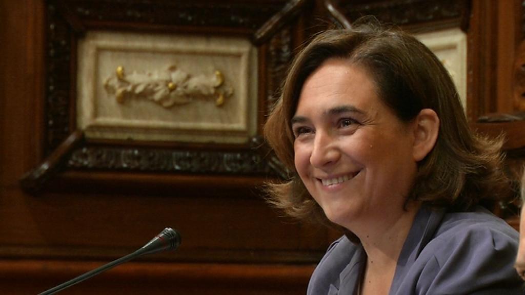 Ada Colau al ple Ajuntament Barcelona