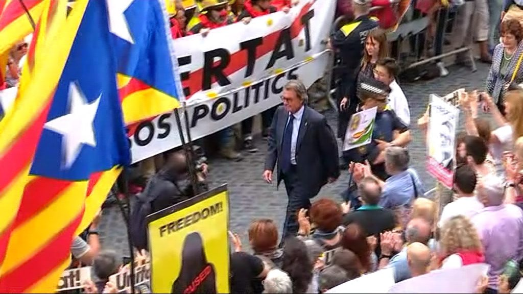 Artur Mas a la plaça de Sant Jaume