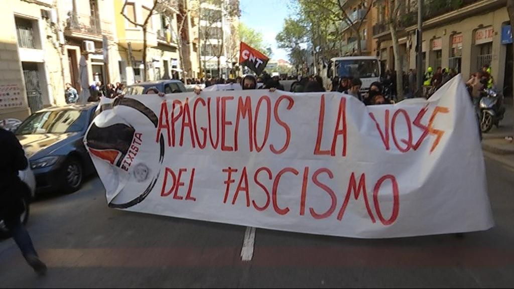 manifestacio contra vox 30 març
