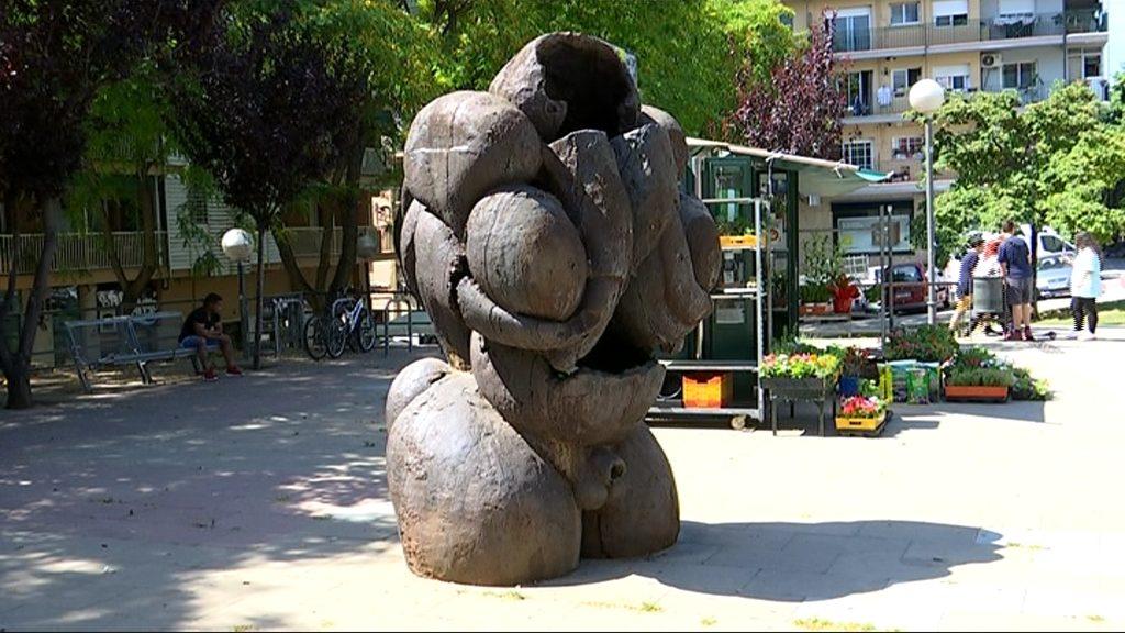 Escultura de Jaume Plensa a Nou Barris