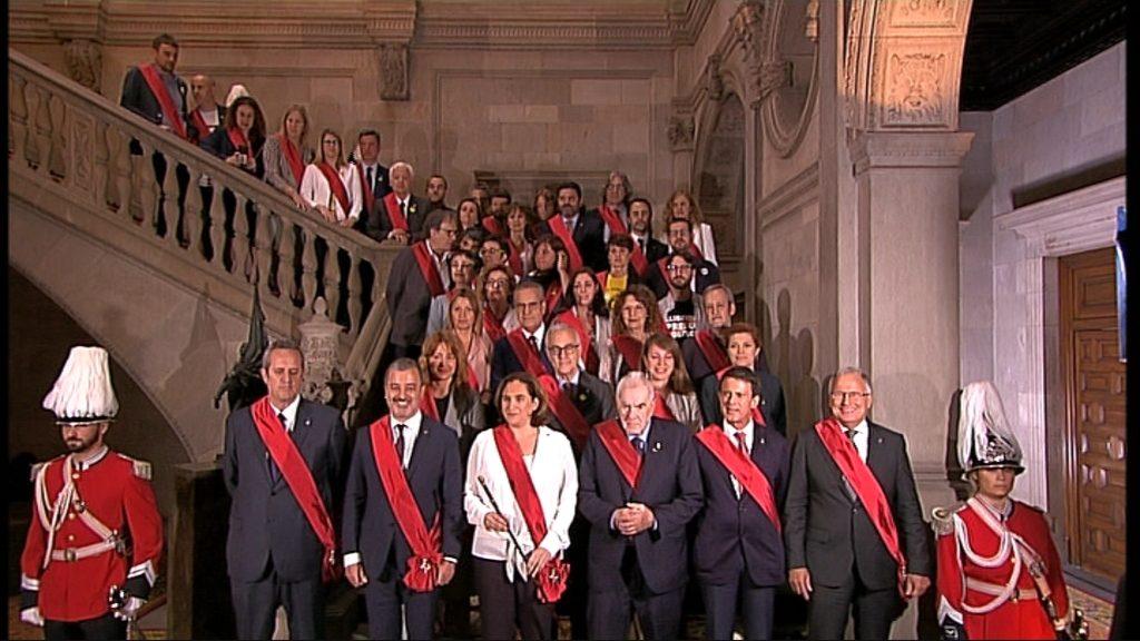 Foto de família dels regidors de l'Ajuntament