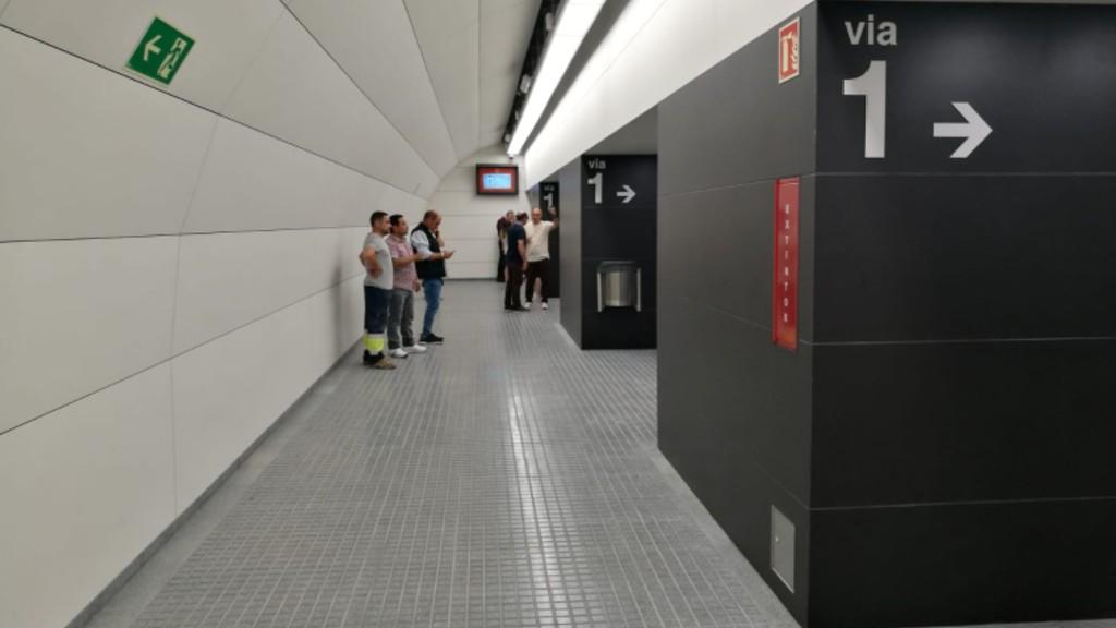 Nova galeria paral·lela a l'estació de Provença