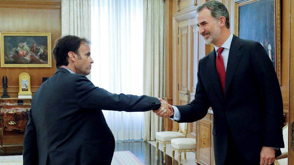 Jaume Asens i el rei Felip VI