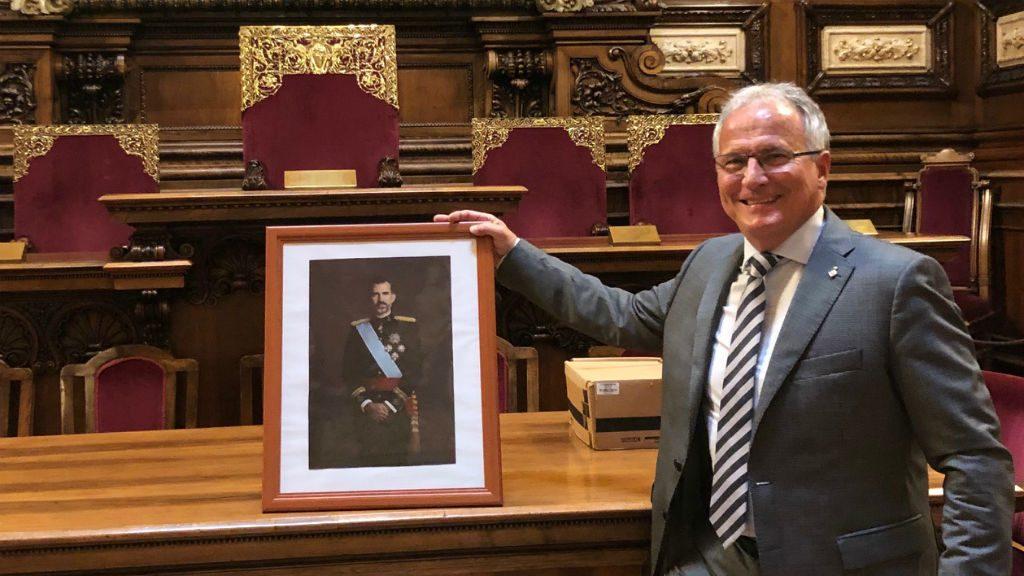 Josep Bou rei Felip VI