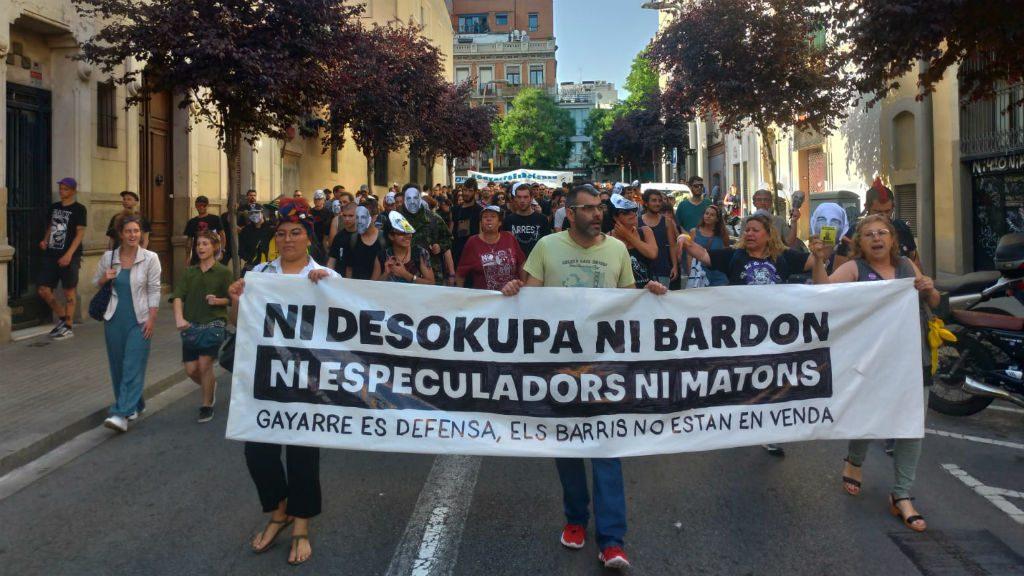 Manifestació veïns de Sants