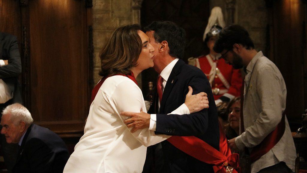 Ada Colau i Manuel Valls