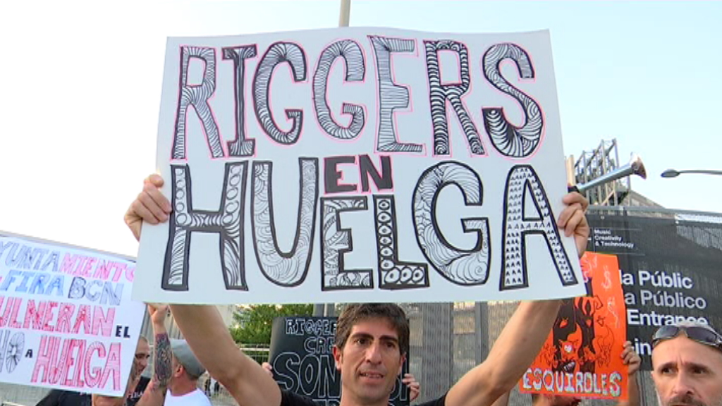 Protesta de riggers