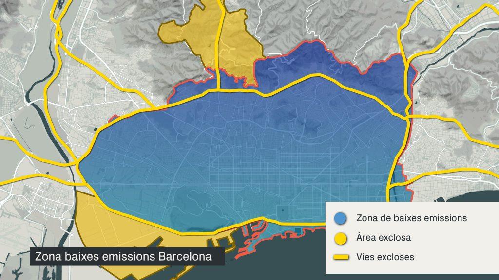 Zona de baixes emissions a Barcelona
