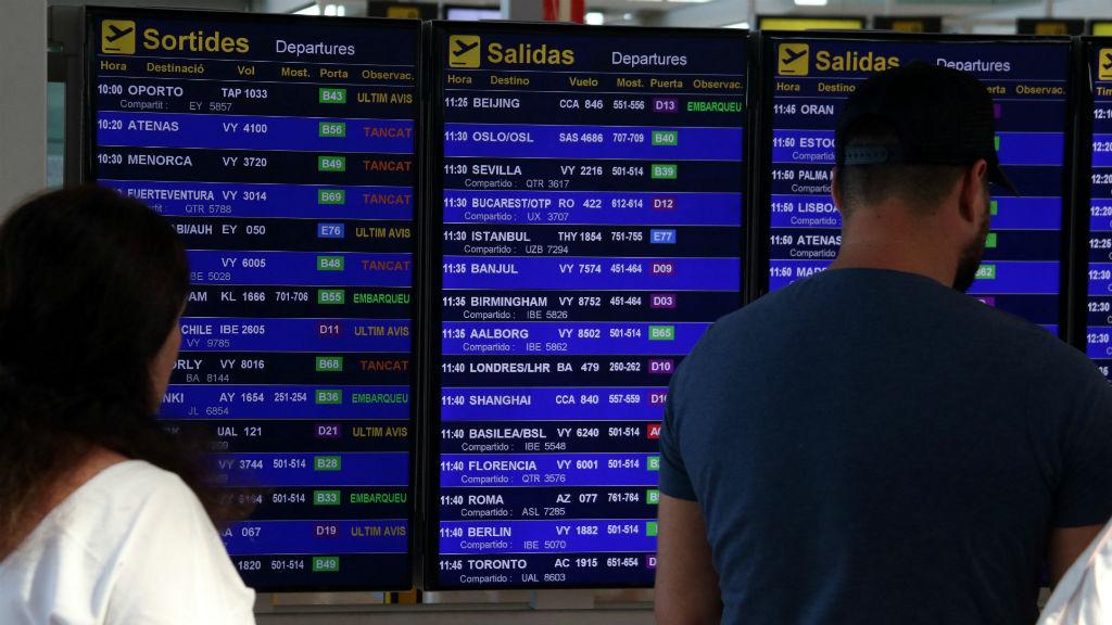 Aeroport Prat panells informatius