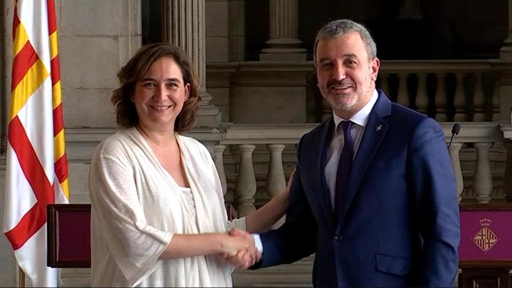 Ada Colau i Jaume Collboni
