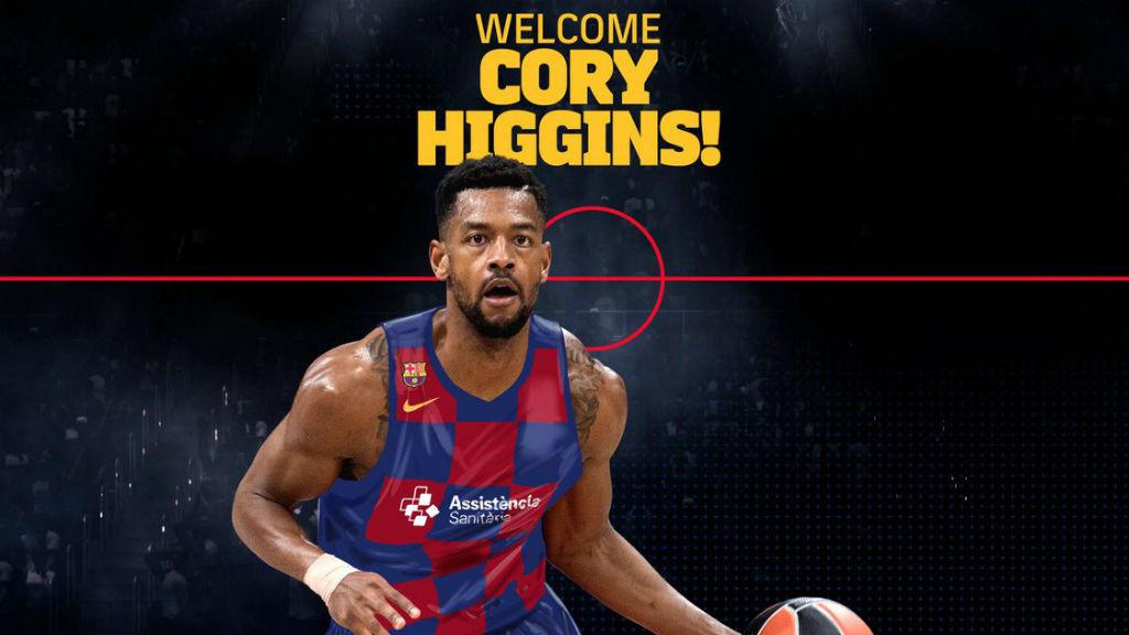 El Barça fitxa Cory Higgins