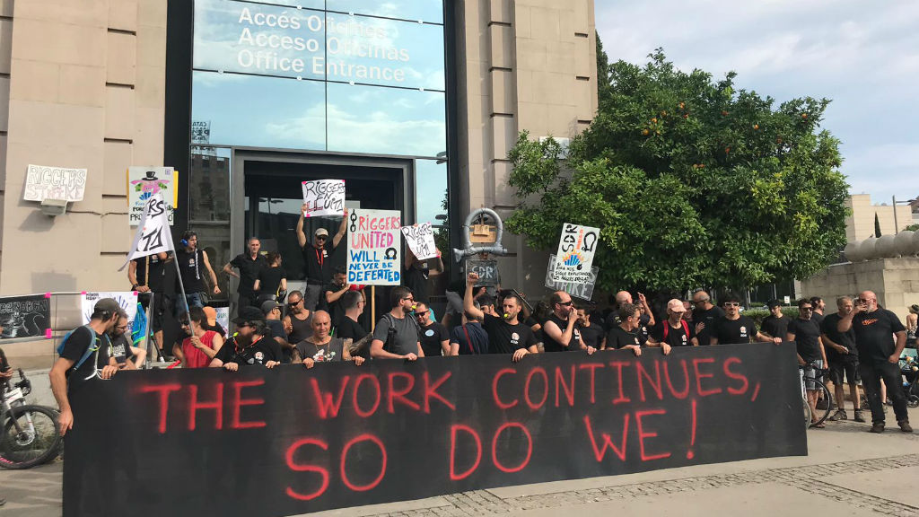 protesta muntadors Sónar