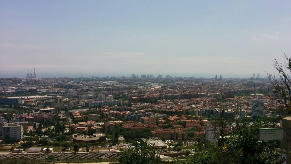 Vista de Barcelona des del mirador de Torre Baró