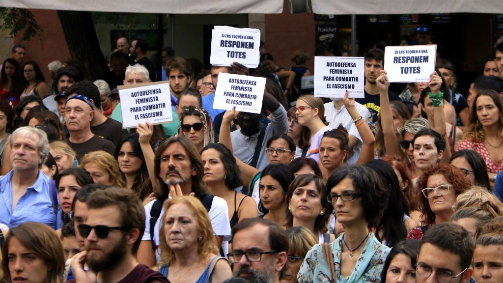 Protesta contra agressions sexuals Gràcia