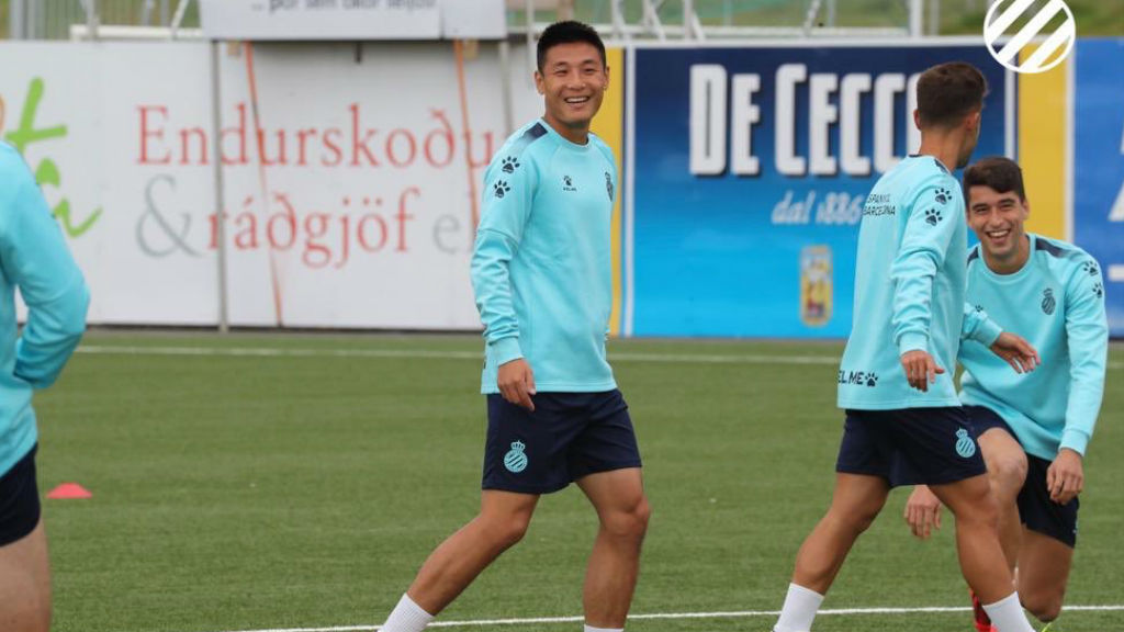 entrenament espanyol europa league