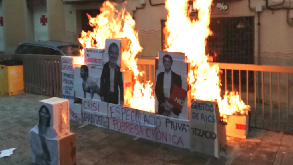 Crema de fotos de Collboni i Valls durant les festes d'Horta