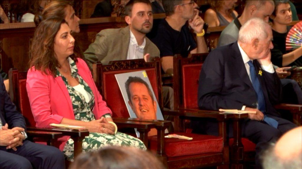 Cadira de Joaquim Forn al pregó de la Mercè 2019