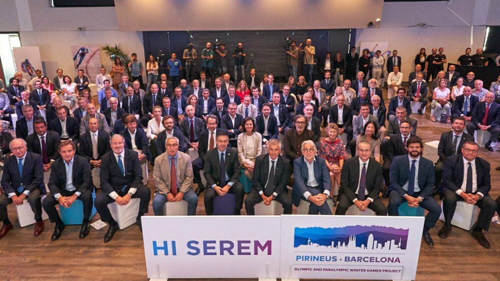 Foto família suport precandidatura Pirineus - Barcelona