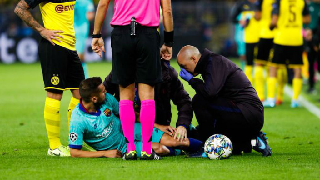 Jordi Alba lesió bíceps femoral 2019
