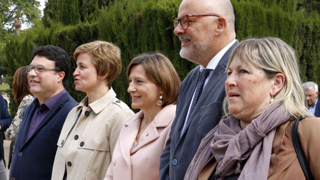 Membres de la mesa del Parlament el 2017
