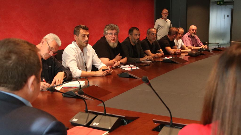 Reunió de mediació sindicats Iberia
