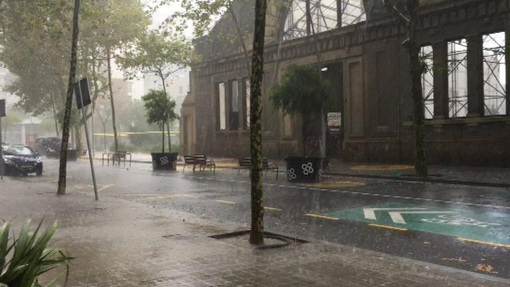Pluja intensa a Barcelona