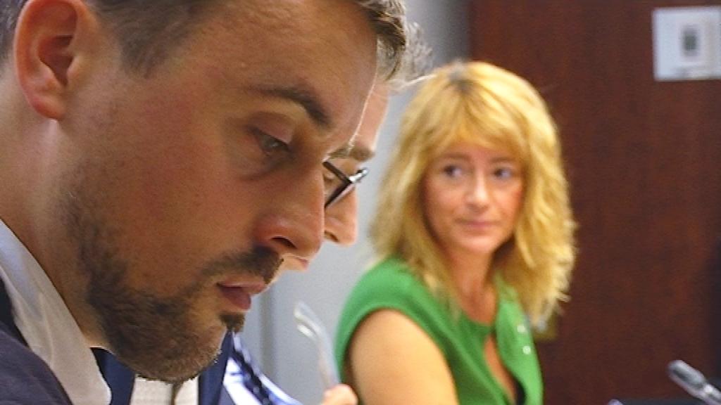 Marc Serra (BComú) i Laia Bonet (PSC)