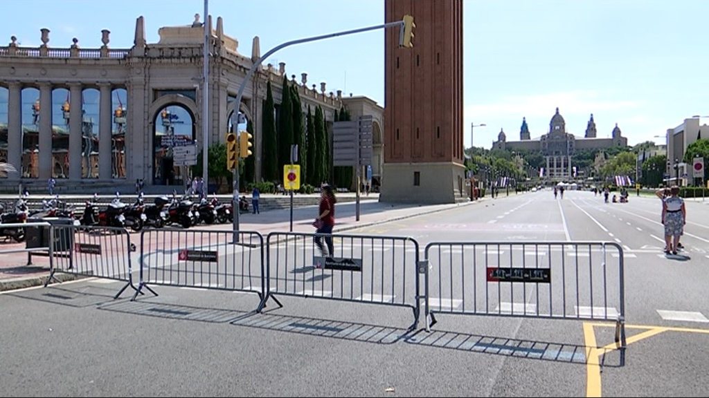 tall trànsit avinguda Maria Cristina
