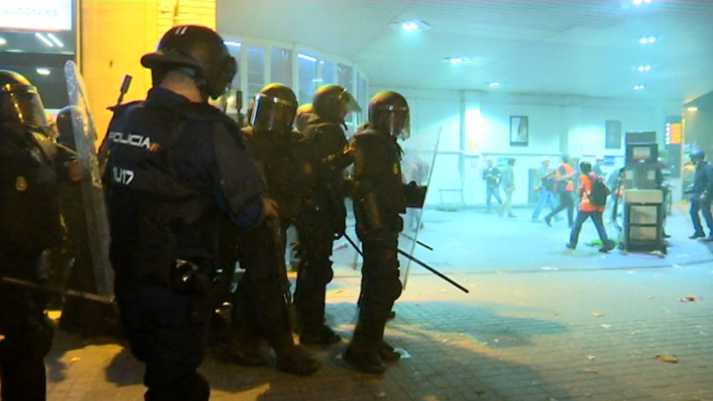 Policia Nacional gasos lacrimogens