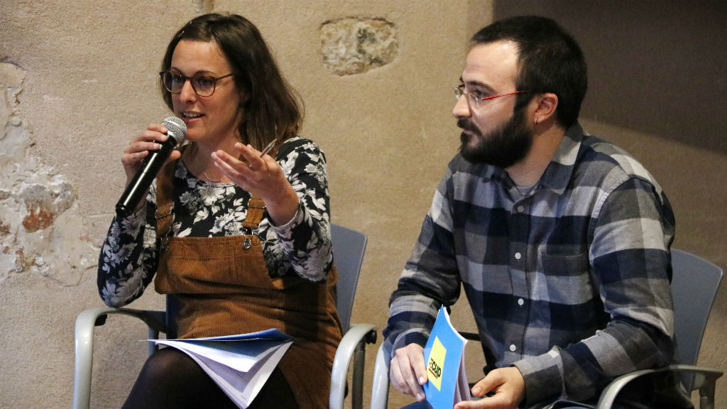Mireia Vehí i Albert Botran (CUP)