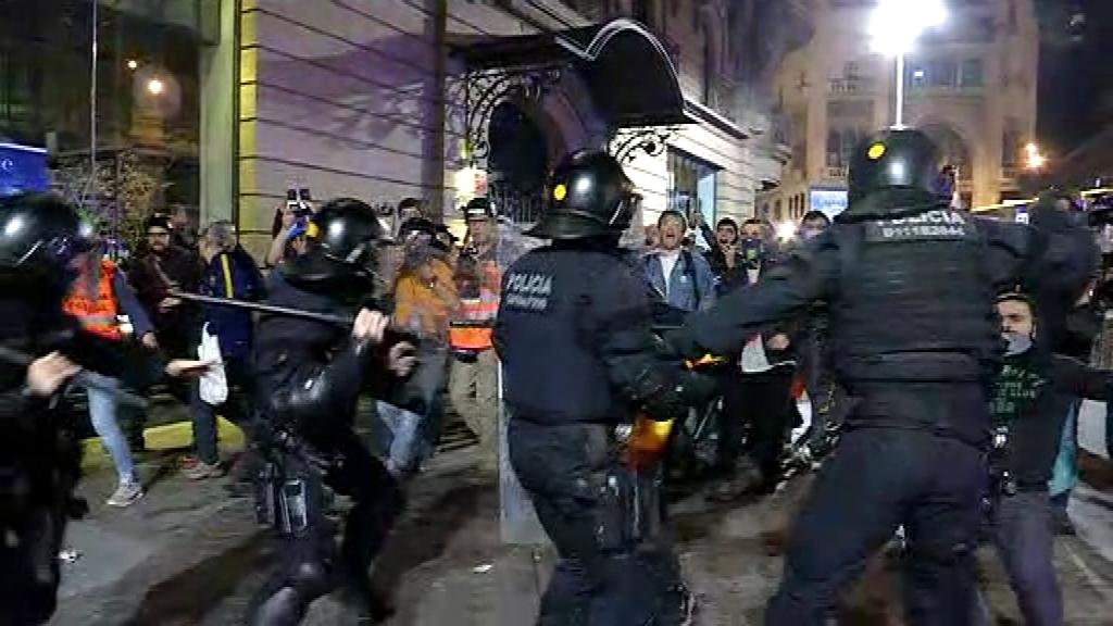 Càrregues policials a via Laietana