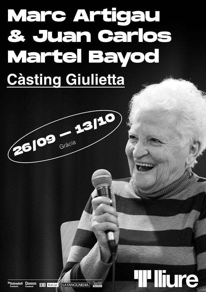 cartell casting giulietta teatre lliure