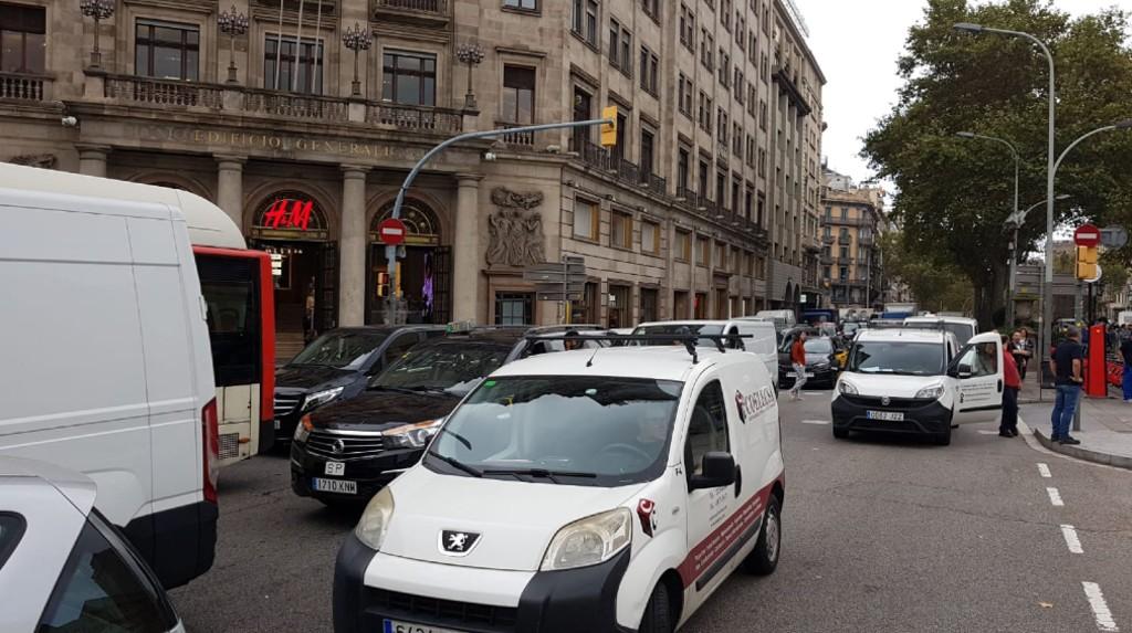 carreteres tallades carrers tallats barcelona