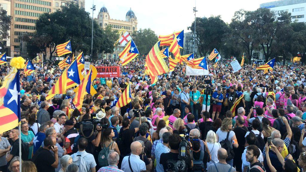 Manifestació de l'1 d'Octubre a Barcelona 2019