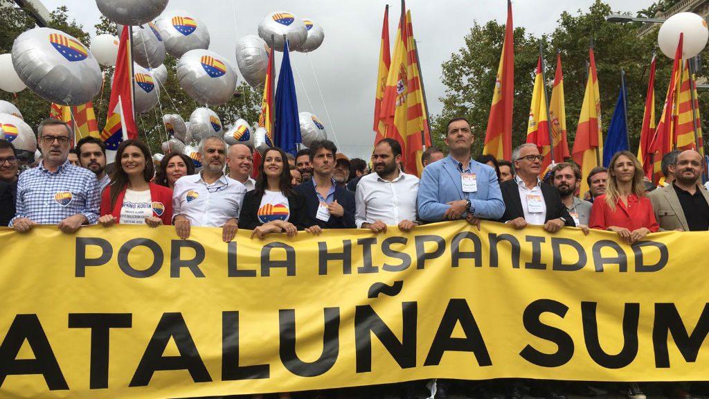 manifestacio 12 octubre barcelona