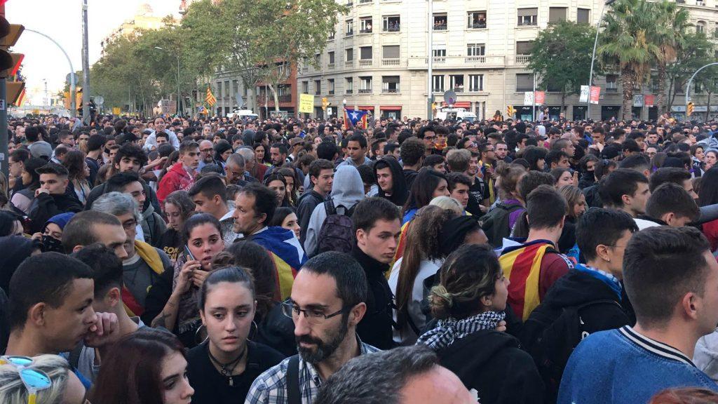 Manifestació dels CDR a carrer de Marina