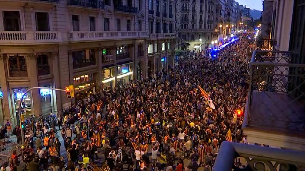 Manifestació via Laietana