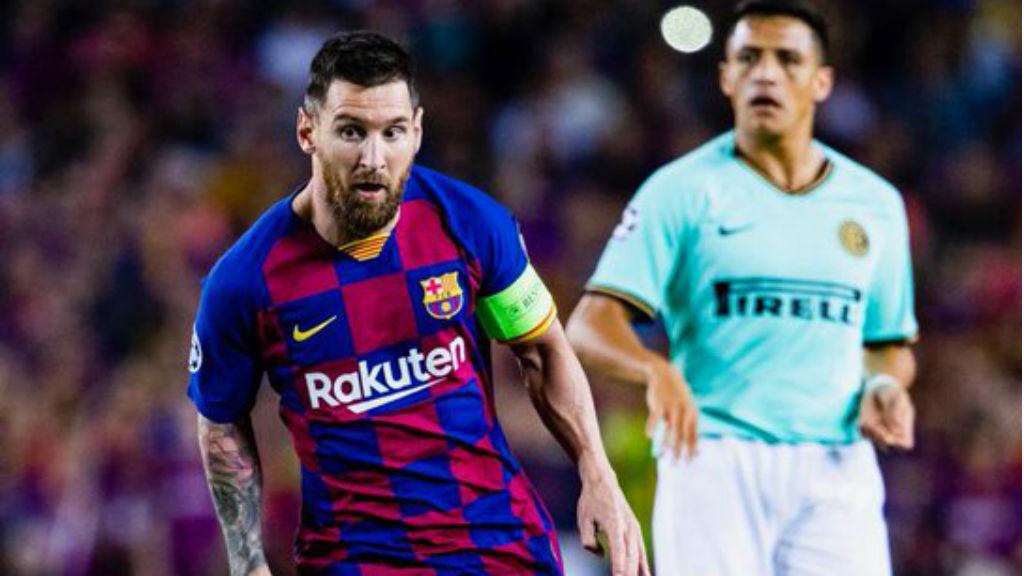 Messi va jugar contra l'Inter